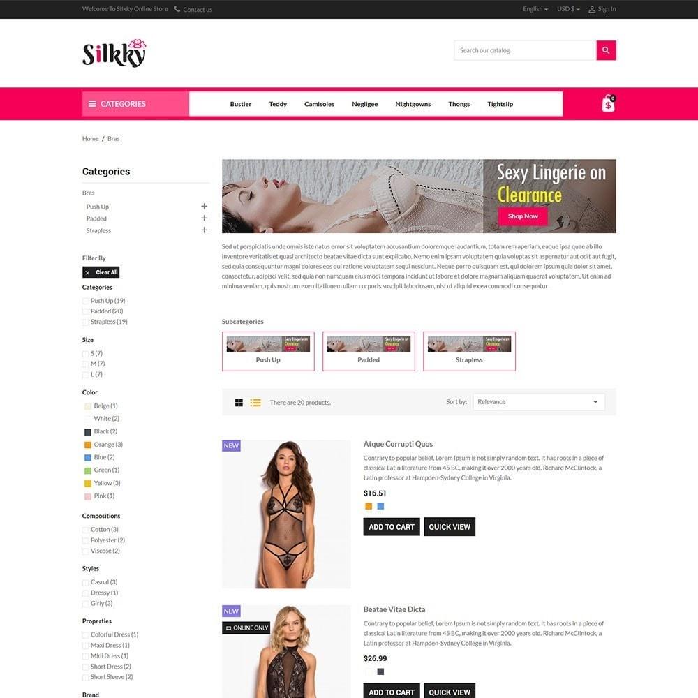 theme - Lingerie & Adultos - Silkky - Lingerie Online Store - 4