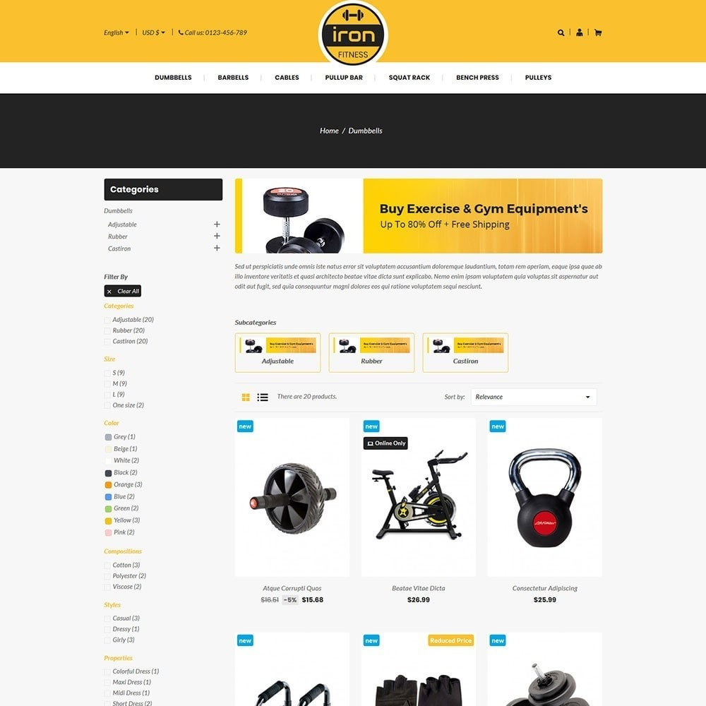 theme - Health & Beauty - Iron - Fitness Online Store - 3