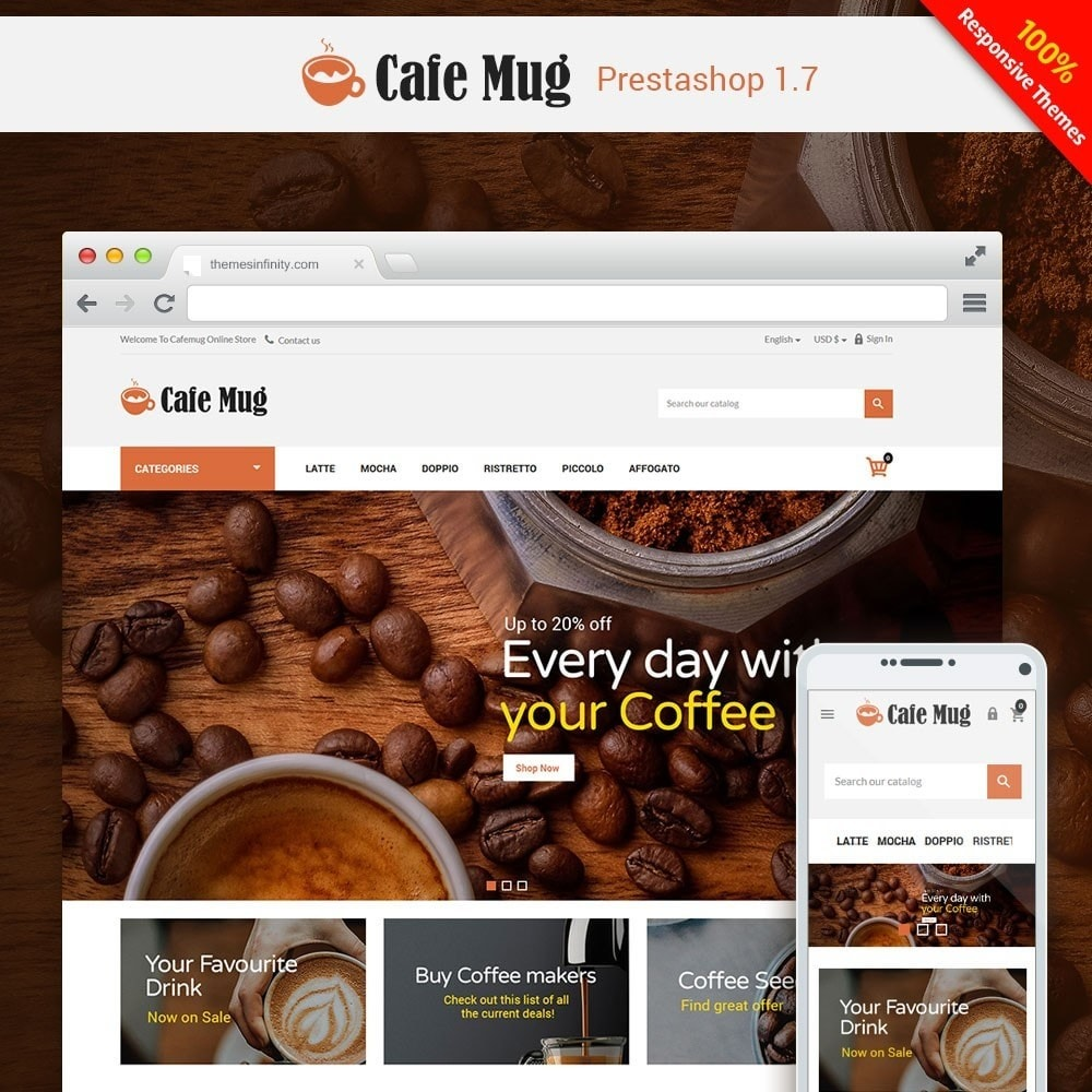 theme - Food & Restaurant - Cafemug - Coffee Online Store - 1