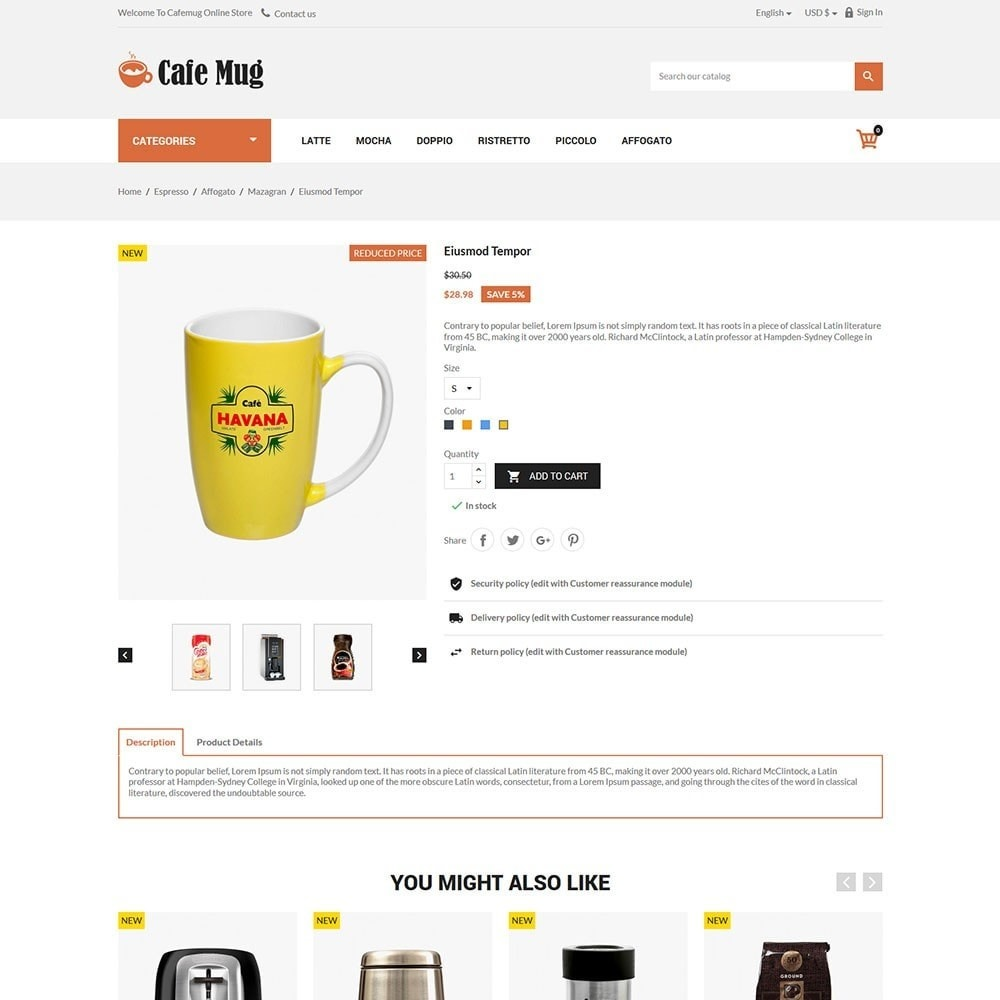 theme - Żywność & Restauracje - Cafemug - Coffee Online Store - 5
