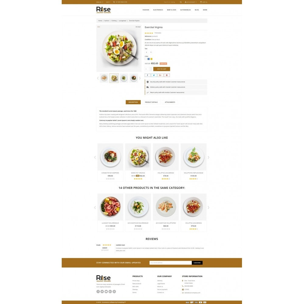 theme - Alimentation & Restauration - RISE - Food Store - 5