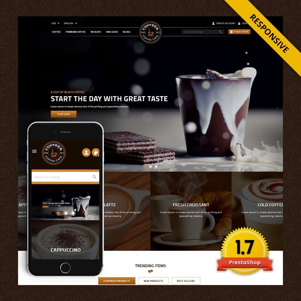 theme - Gastronomía y Restauración - Coffeea - Coffee shop - 1