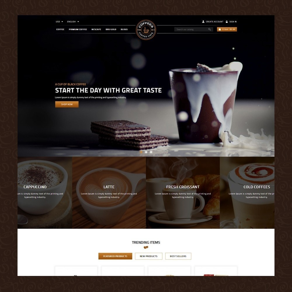 theme - Gastronomía y Restauración - Coffeea - Coffee shop - 2