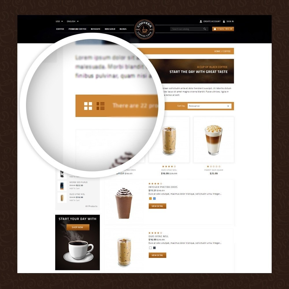 theme - Gastronomía y Restauración - Coffeea - Coffee shop - 3