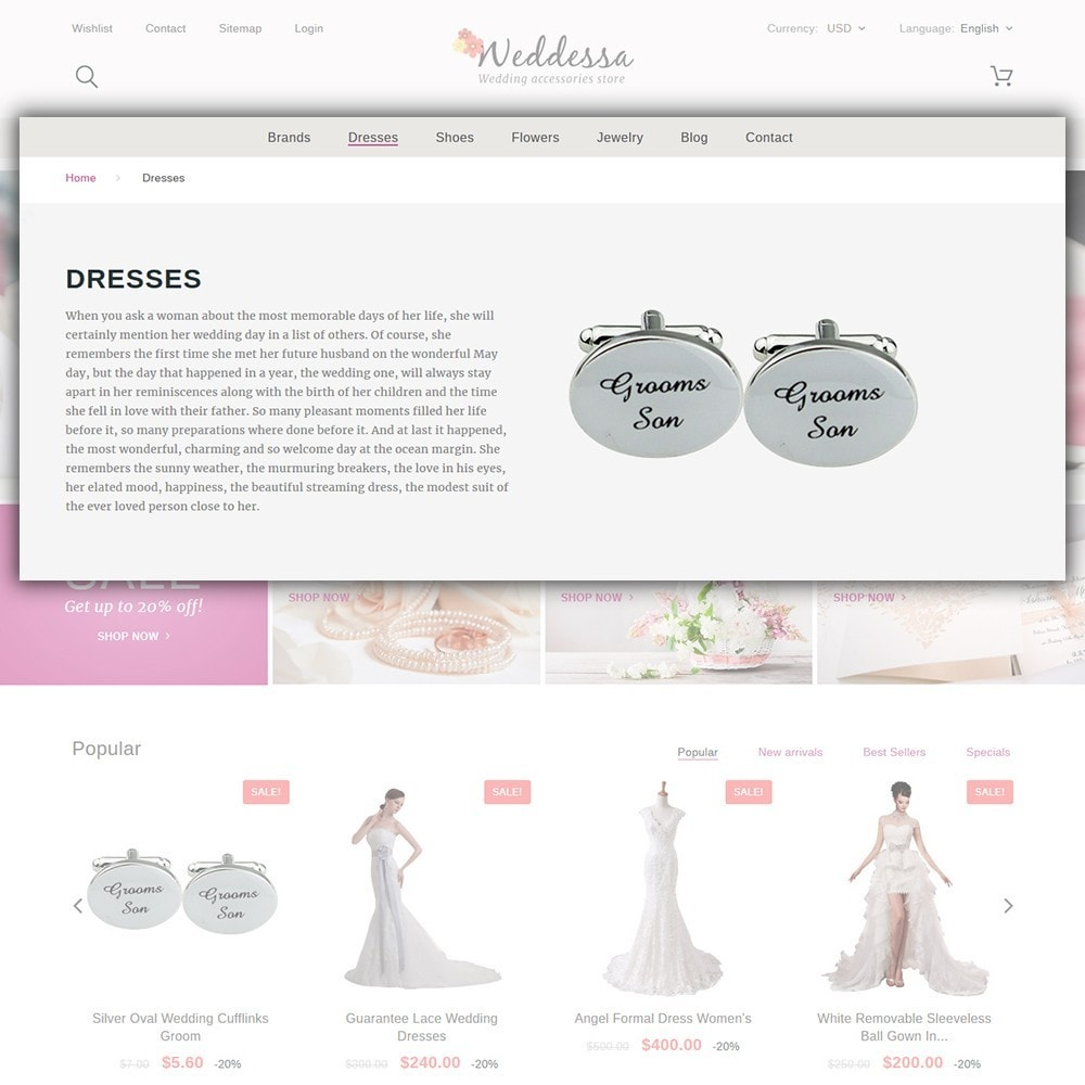 theme - Moda & Obuwie - Weddessa - Wedding Shop - 5