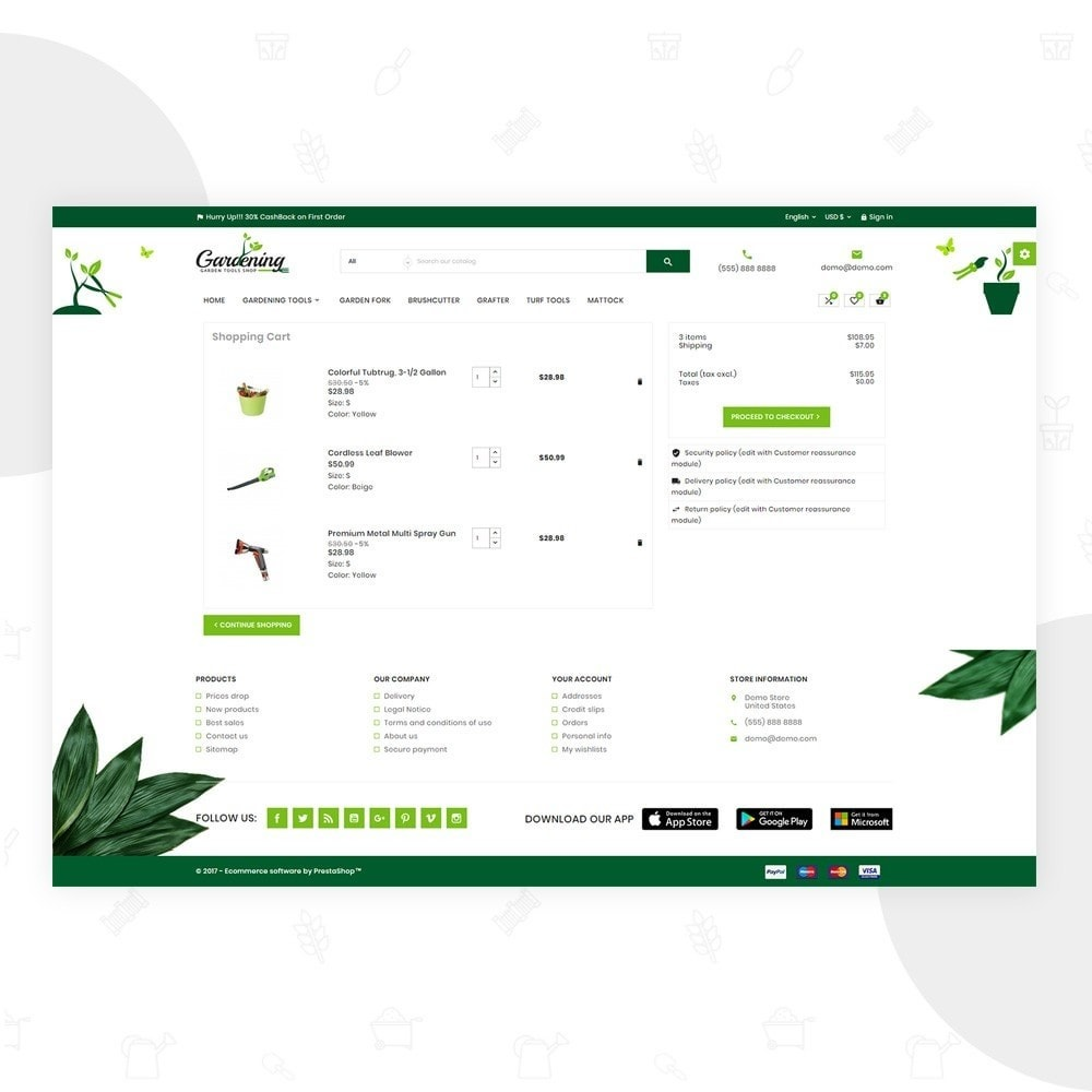 theme - Dom & Ogród - Garding Garden Tool Store - 6