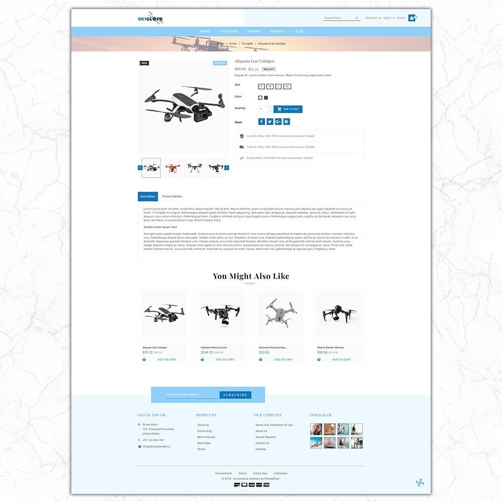 theme - Electronics & Computers - Skyclops Drone Store - 5