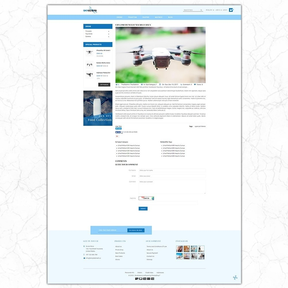 theme - Elettronica & High Tech - Skyclops Drone Store - 8
