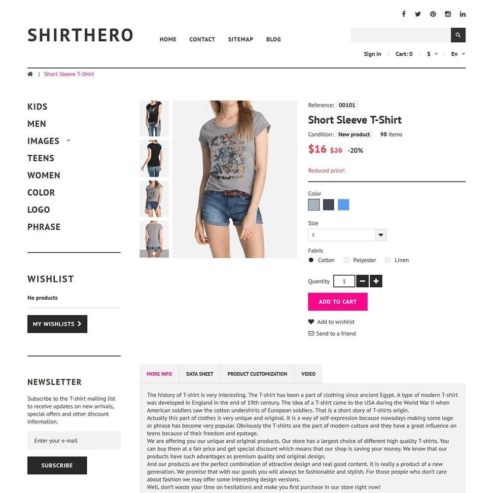 theme - Moda y Calzado - ShirtHero - T-shirt - 3