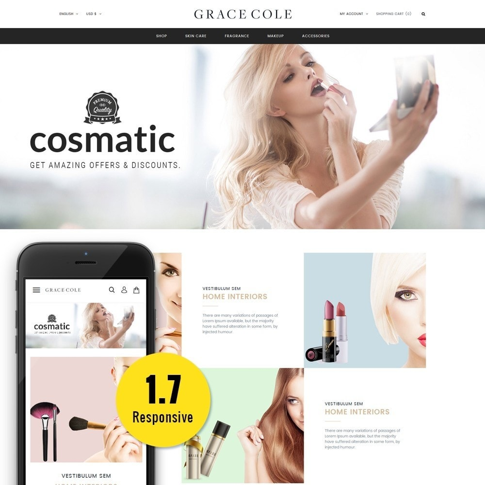 theme - Salute & Bellezza - Grace Cole Cosmetic Store - 1