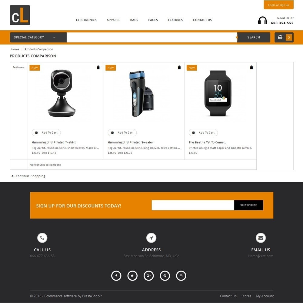 theme - Elettronica & High Tech - CL Electronic Store - 9