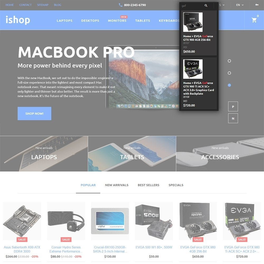 theme - Elektronika & High Tech - iShop - Computer Store - 6