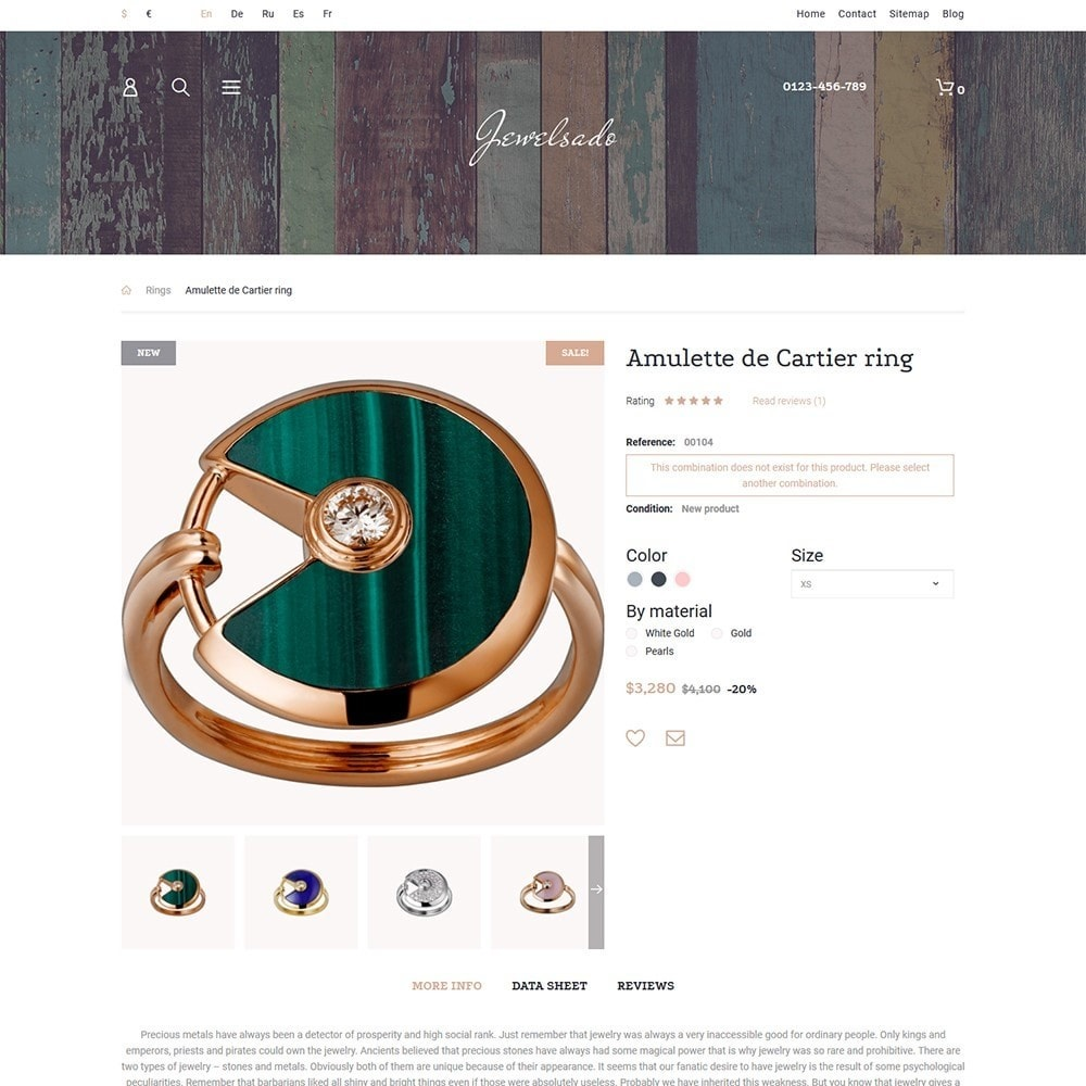 theme - Mode & Chaussures - Jewelsado - Jewelry Store - 3