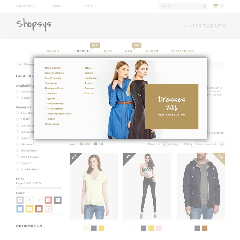 theme - Мода и обувь - Shopsys - Trendy Clothes - 6