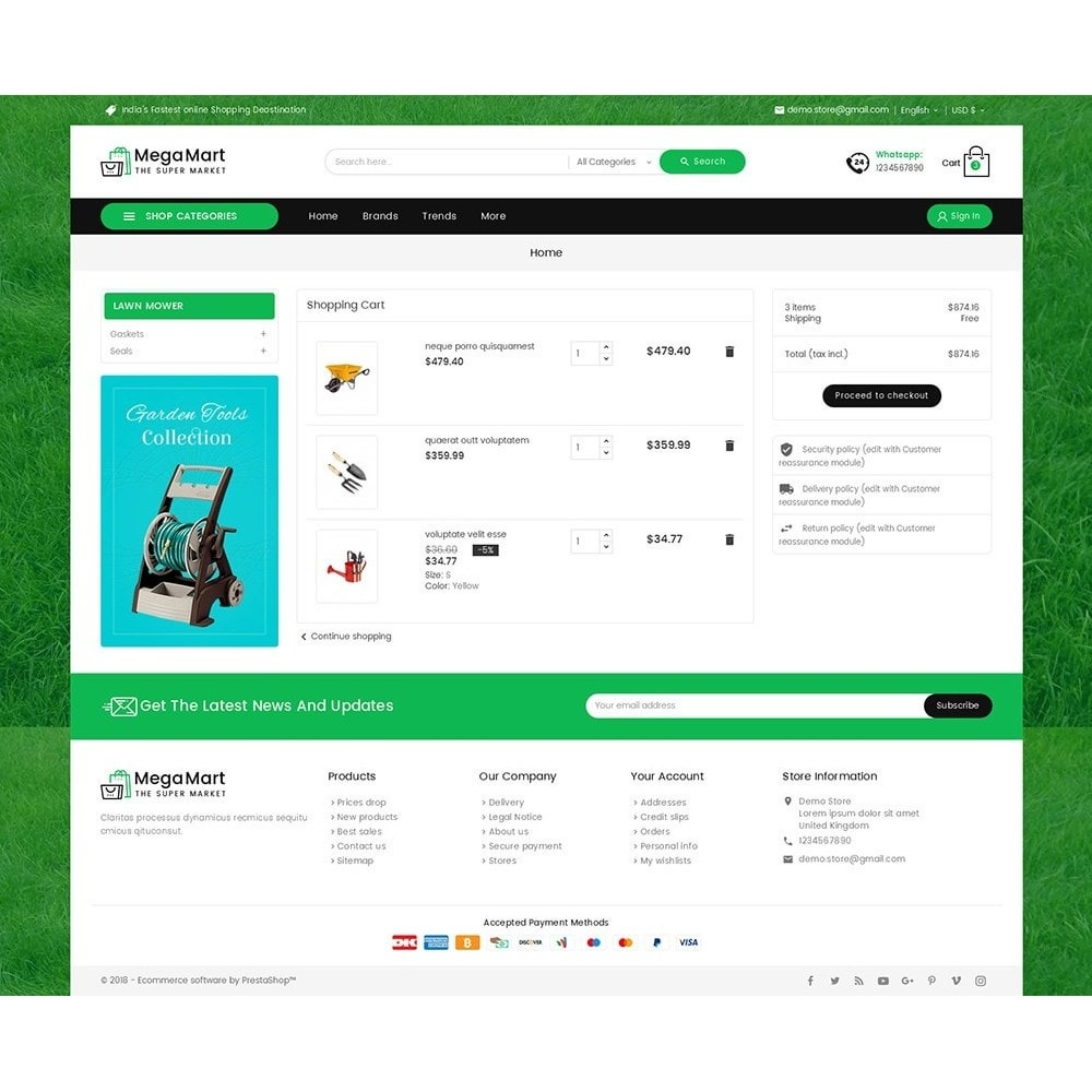 theme - Casa & Jardins - Mega Mart Gardening Tools - 6