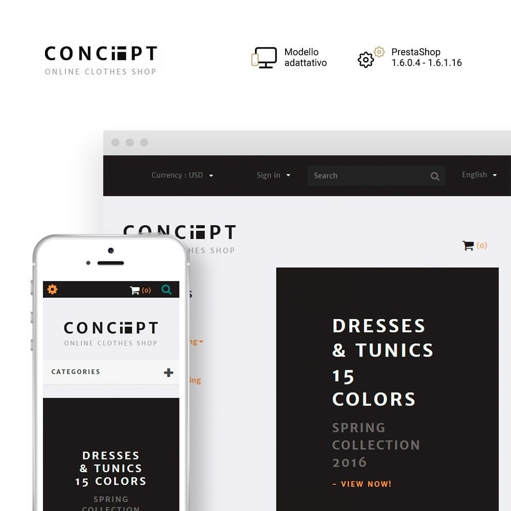 theme - Moda & Calzature - Concept - Apparel Store - 1