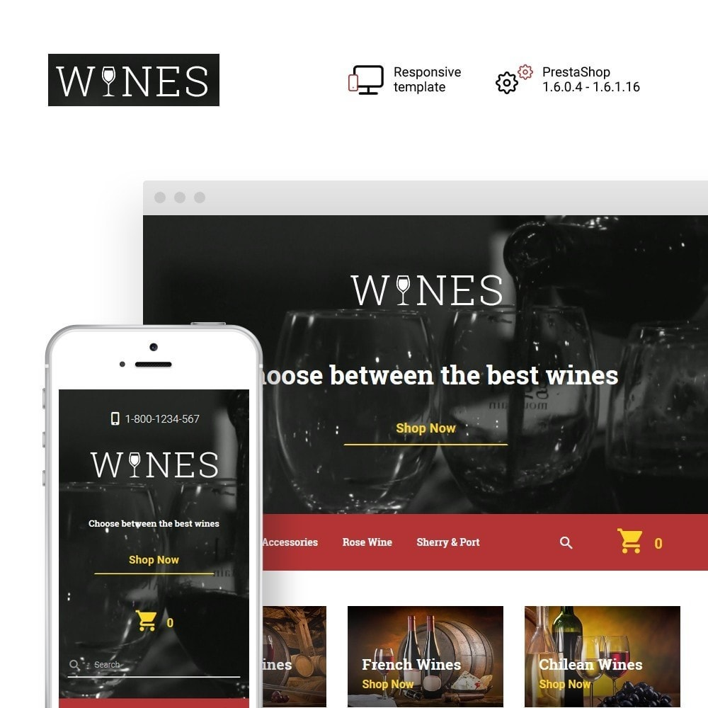 theme - Alimentos & Restaurantes - Wines - Wine Store - 1