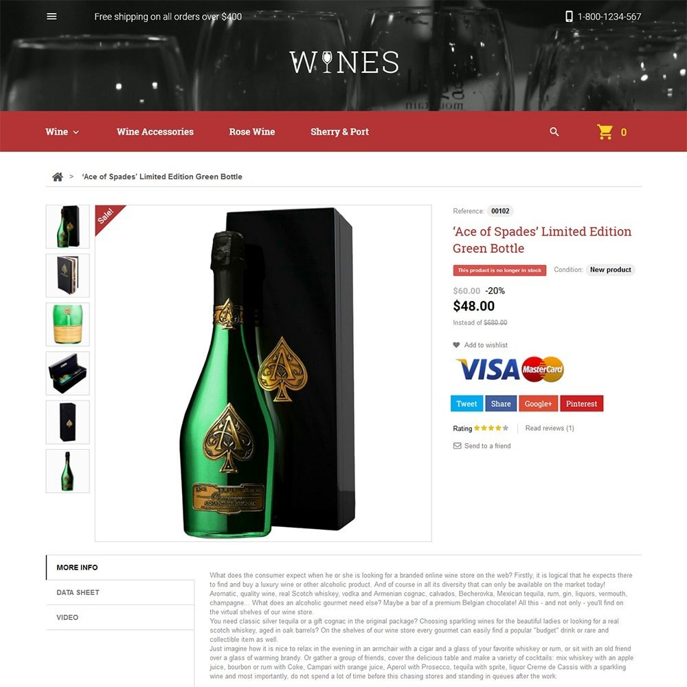 theme - Alimentation & Restauration - Wines - Wine Store - 3