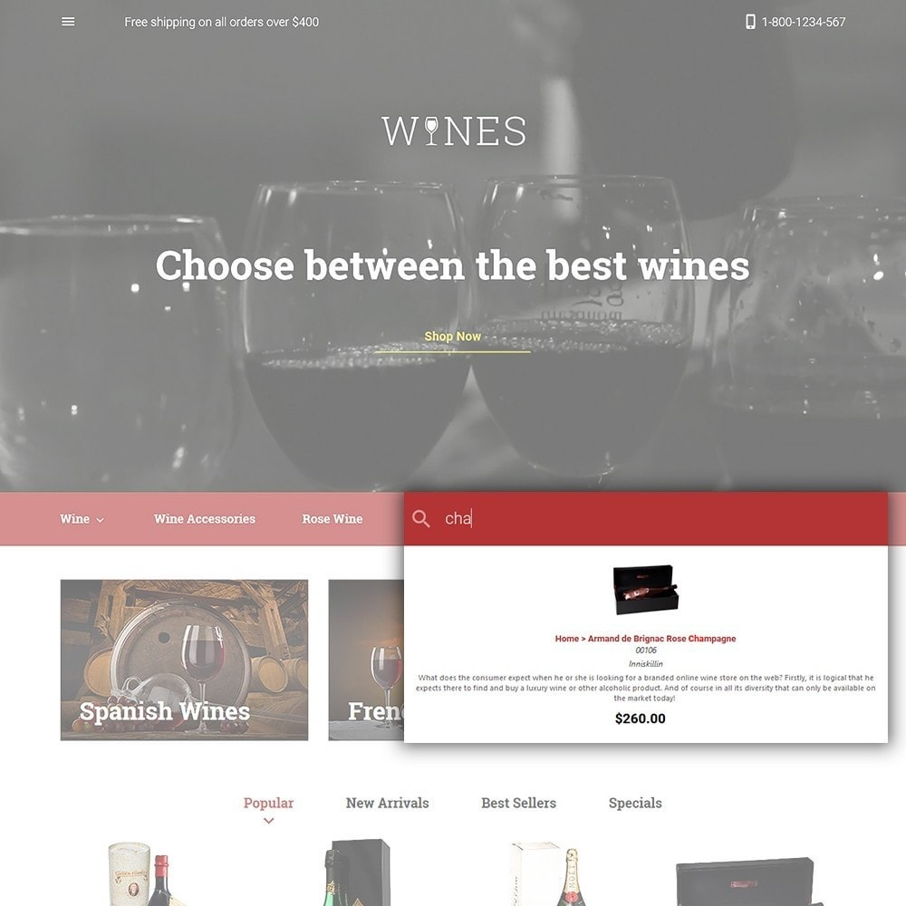 theme - Alimentation & Restauration - Wines - Wine Store - 6