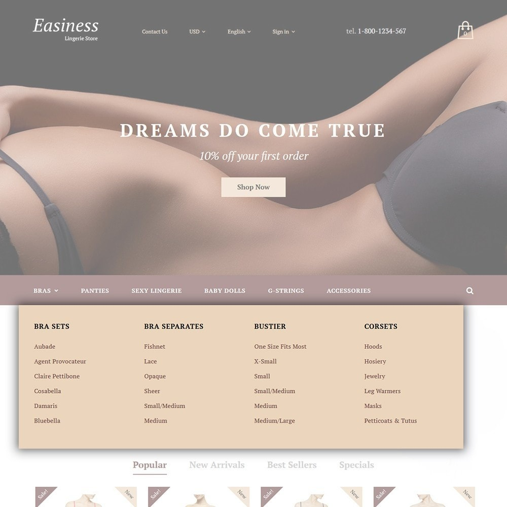 theme - Moda & Calzature - Easiness - Lingerie Store - 4