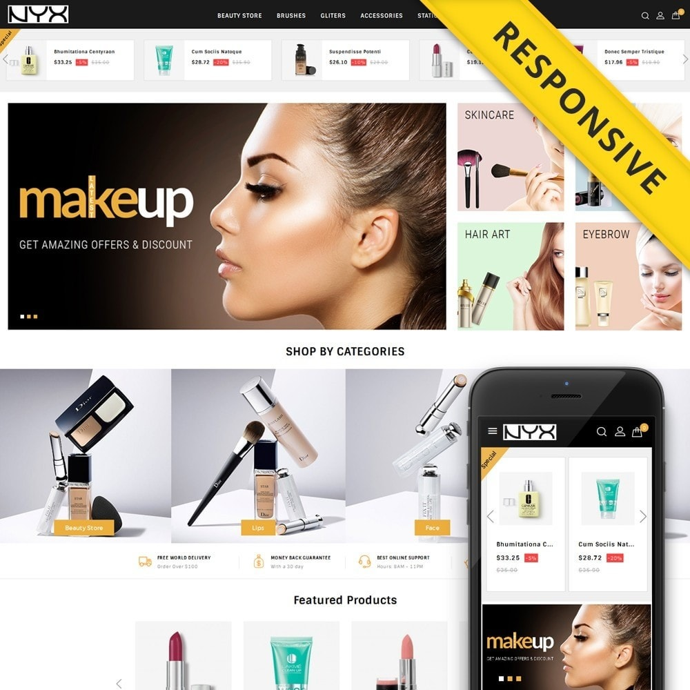 theme - Mode & Schoenen - NYX - Cosmetic Store - 1