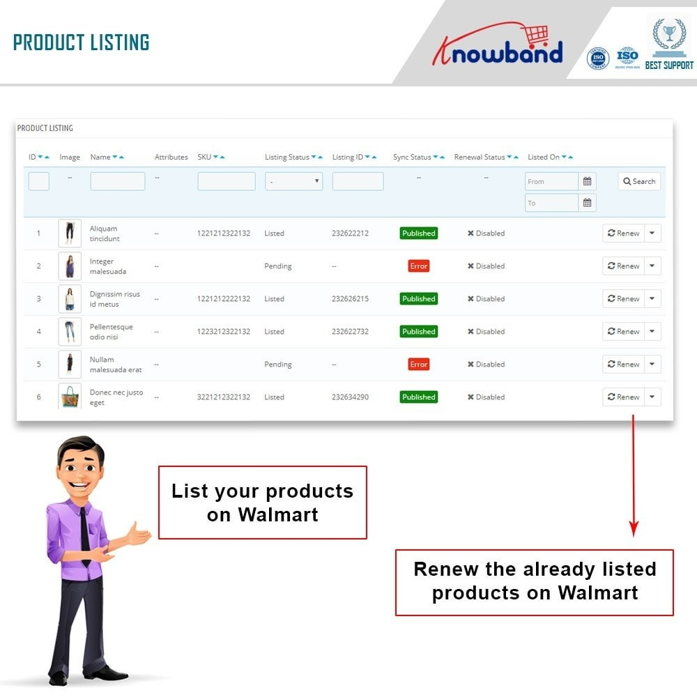 module - Integrazione (CRM, ERP...) - Knowband - Prestashop Walmart Integration - 5