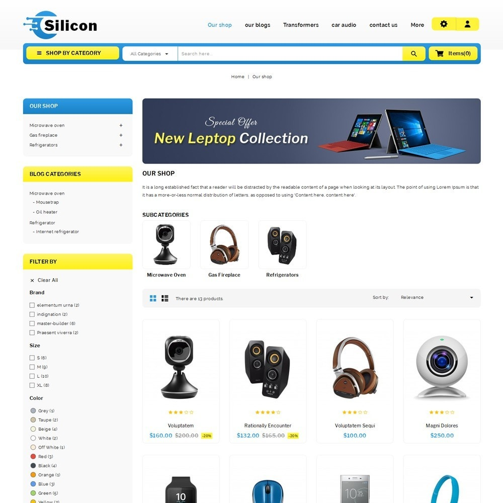theme - Электроника и компьютеры - Silicon - The Electronic Store - 4