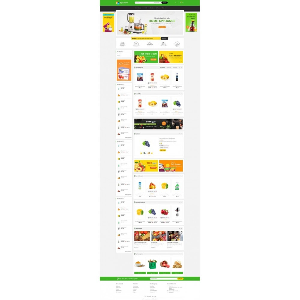 theme - Food & Restaurant - Big Basket Mega Grocery - 2