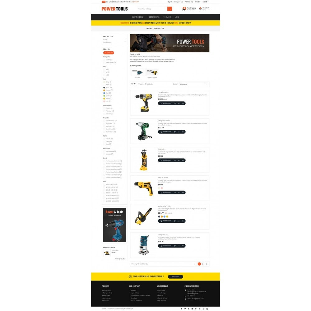 theme - Dom & Ogród - Power Tools Store - 4