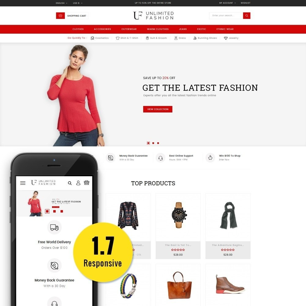 theme - Mode & Chaussures - Unlimited Fashion Store - 1
