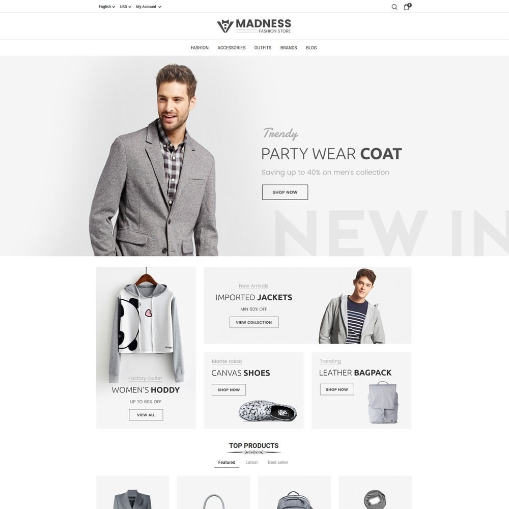 theme - Мода и обувь - Madness Fashion Store - 2