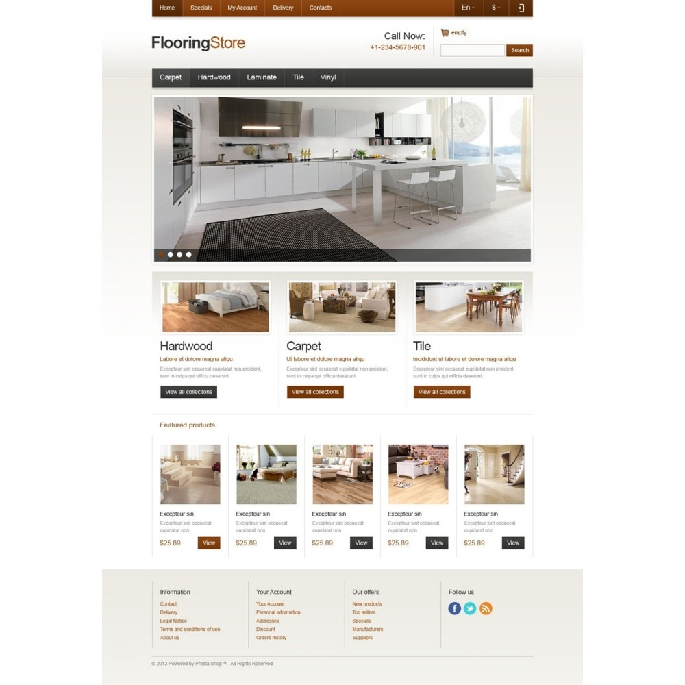 theme - Arte e Cultura - Responsive Flooring Store - 5