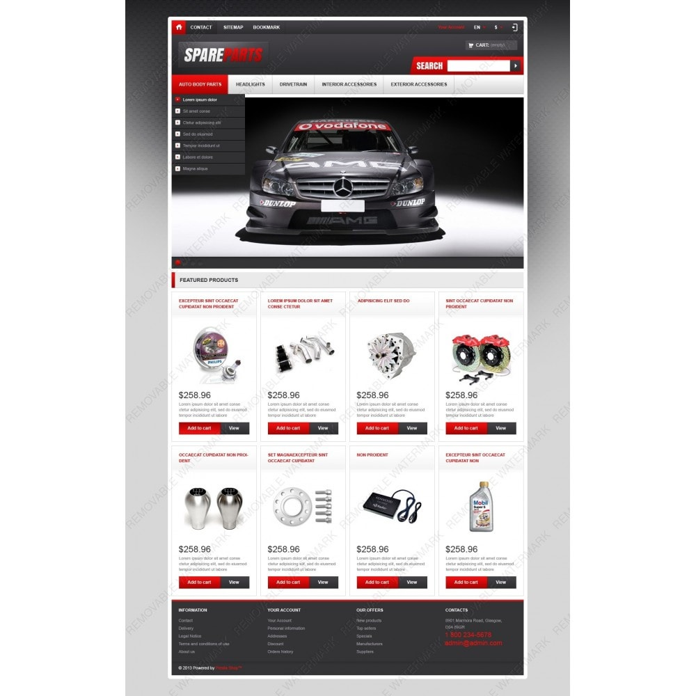 theme - Coches y Motos - Responsive Spare Parts Store - 3