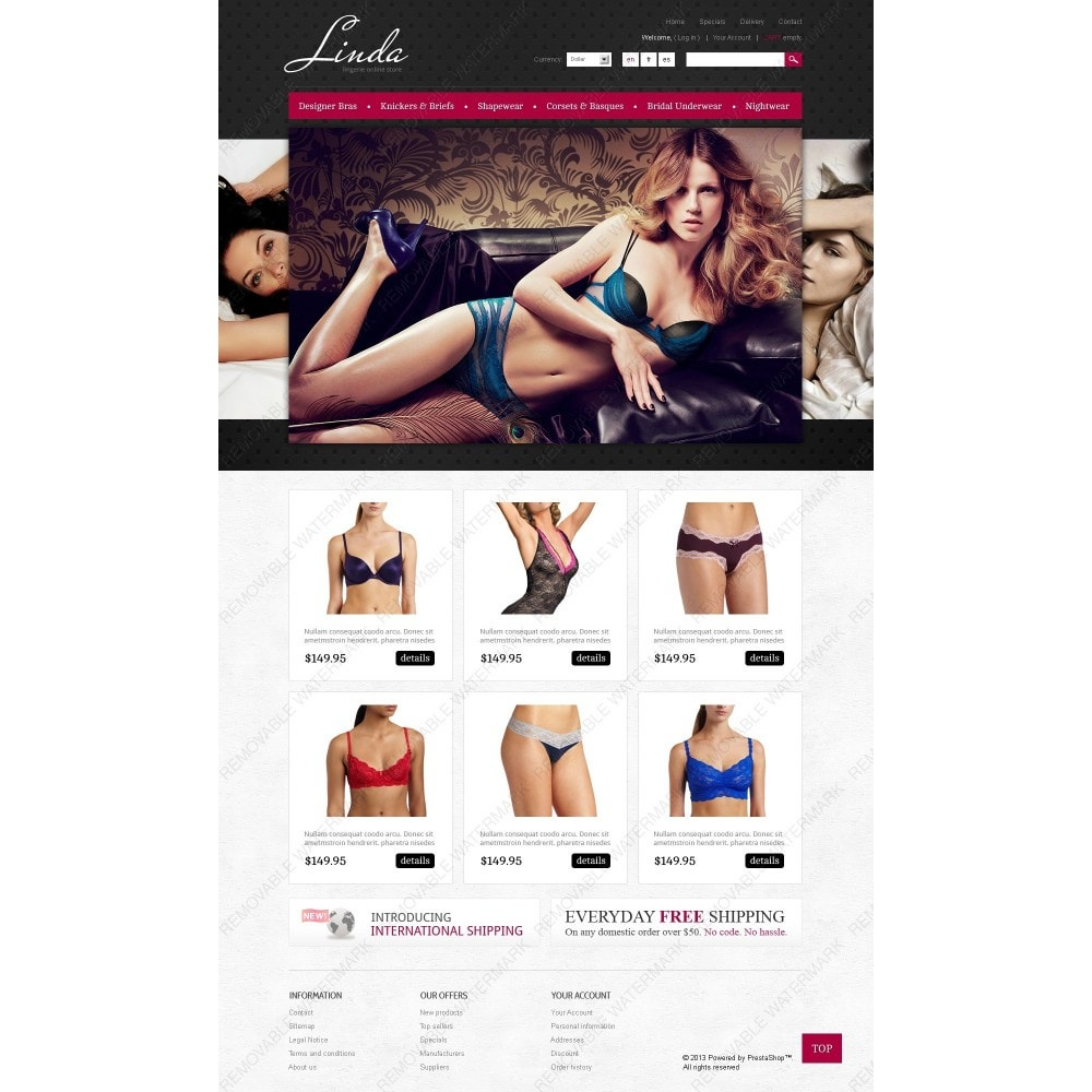 theme - Moda & Calzature - Lingerie for Seduction - 2