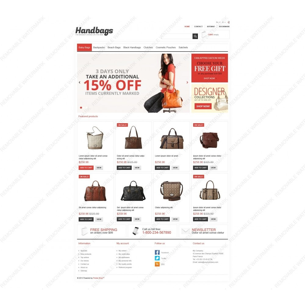 theme - Mode & Chaussures - Responsive Handbags Store - 6