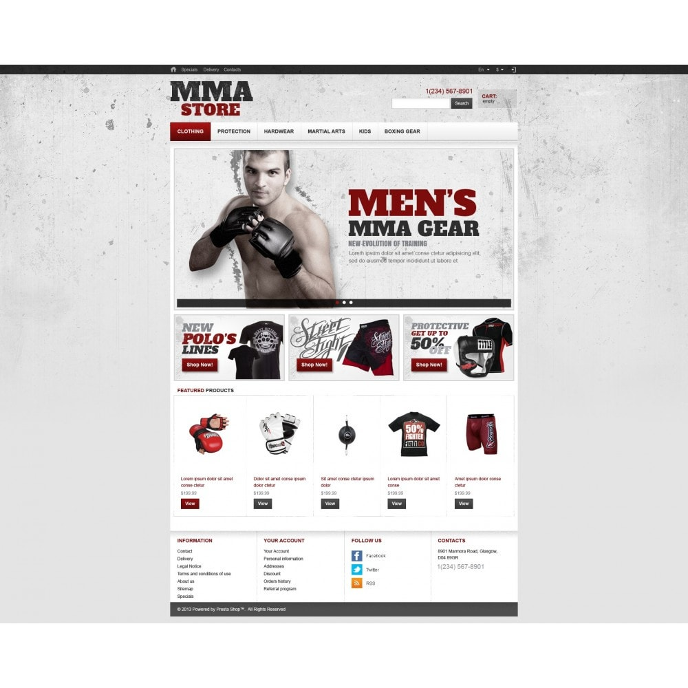 theme - Sports, Activities & Travel - Martial Arts Store - 4