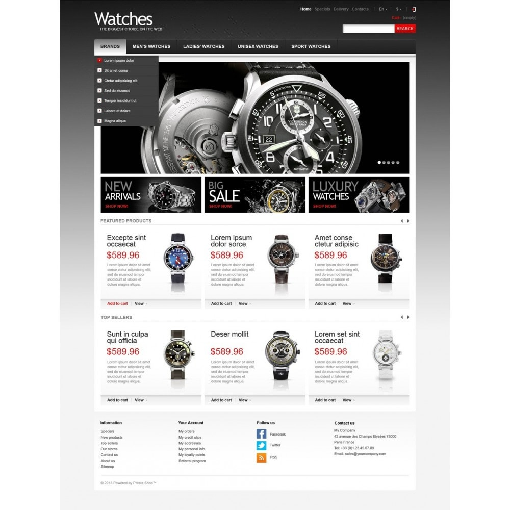 theme - Fashion & Shoes - Wrist Watch Store - 5