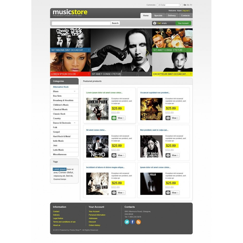 theme - Art & Culture - Music Store - 7