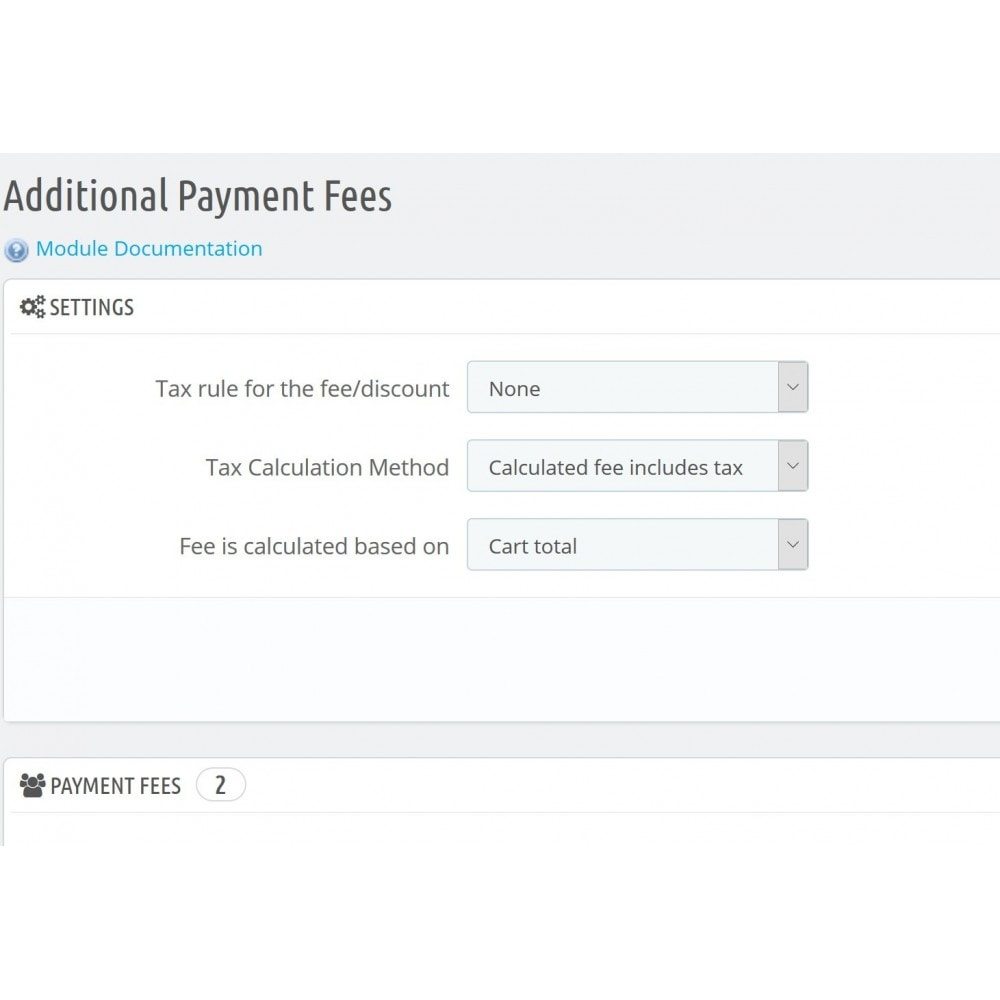 module - Otros métodos de pago - Additional Payment Fees - 3