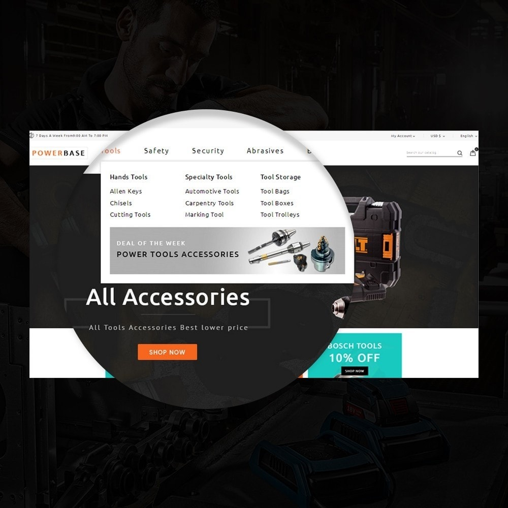 theme - Carros & Motos - Powerbase Tool Store - 8