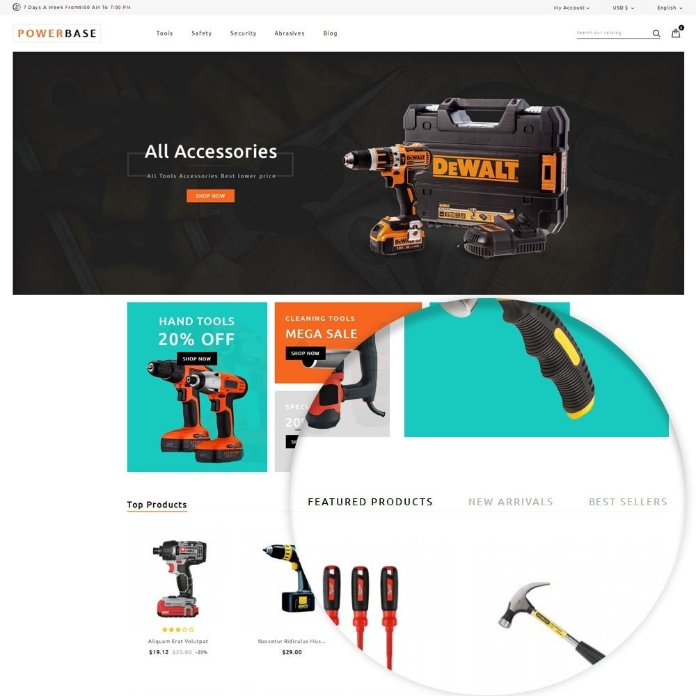 theme - Carros & Motos - Powerbase Tool Store - 9