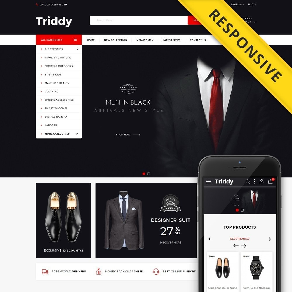 theme - Moda & Calzature - Triddy - Multipurpose Store - 1