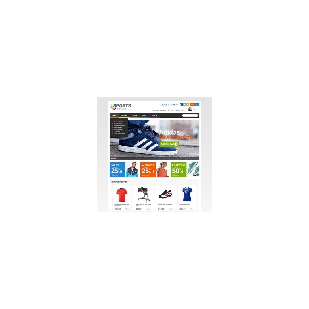 theme - Sports, Activities & Travel - Responsive Sports Store - 2