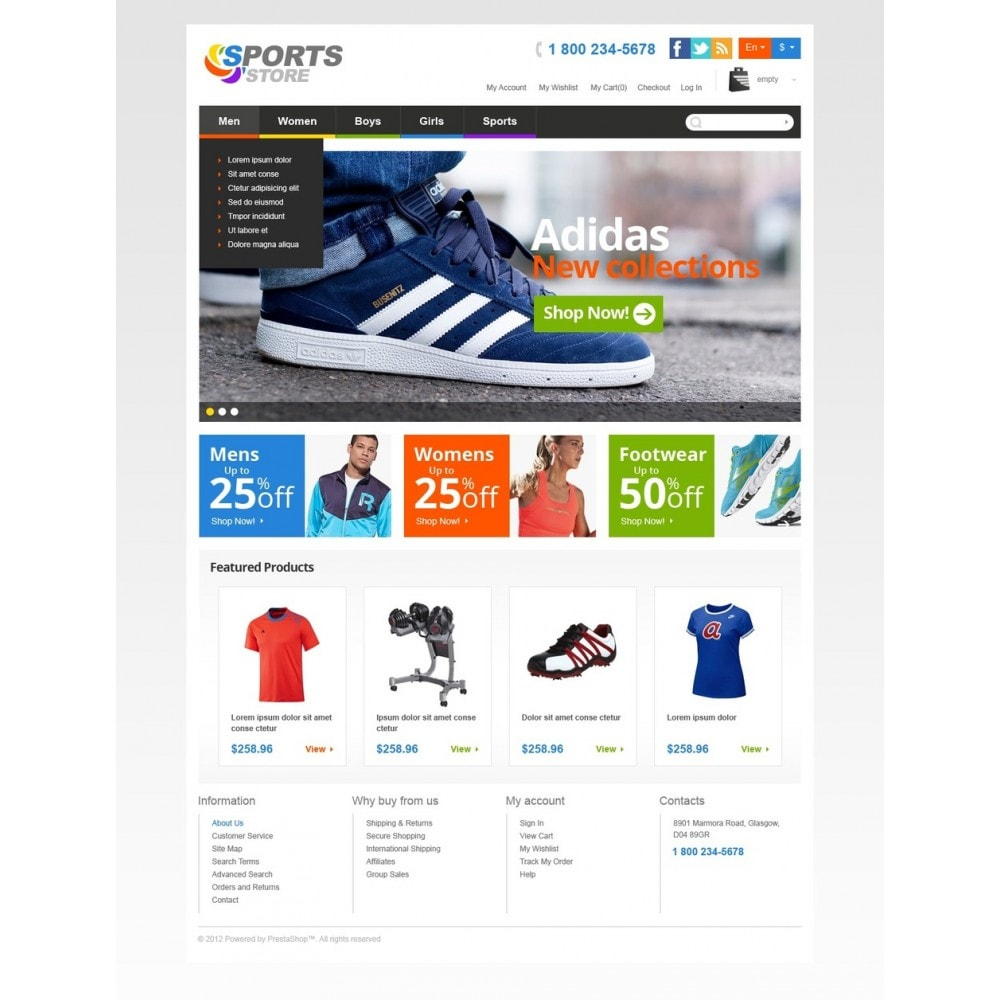 theme - Sports, Activities & Travel - Responsive Sports Store - 5