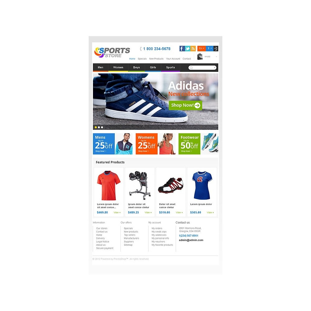theme - Sports, Activities & Travel - Responsive Sports Store - 8