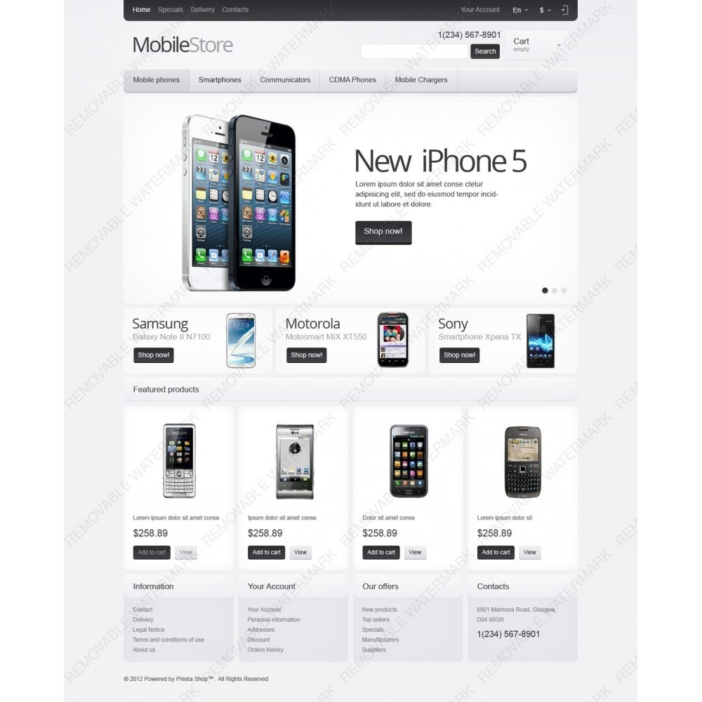 theme - Elektronika & High Tech - Responsive Mobile Store - 3
