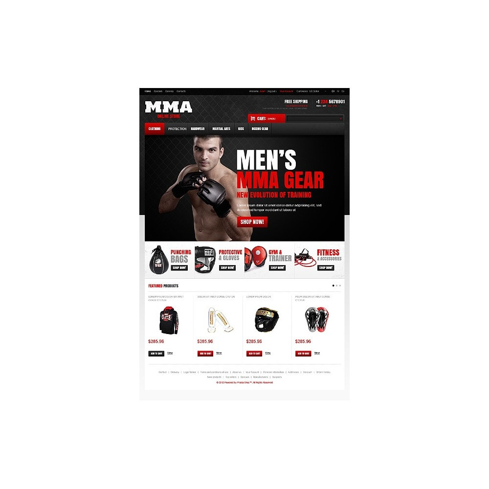 theme - Sports, Activities & Travel - Martial Arts Store - 1