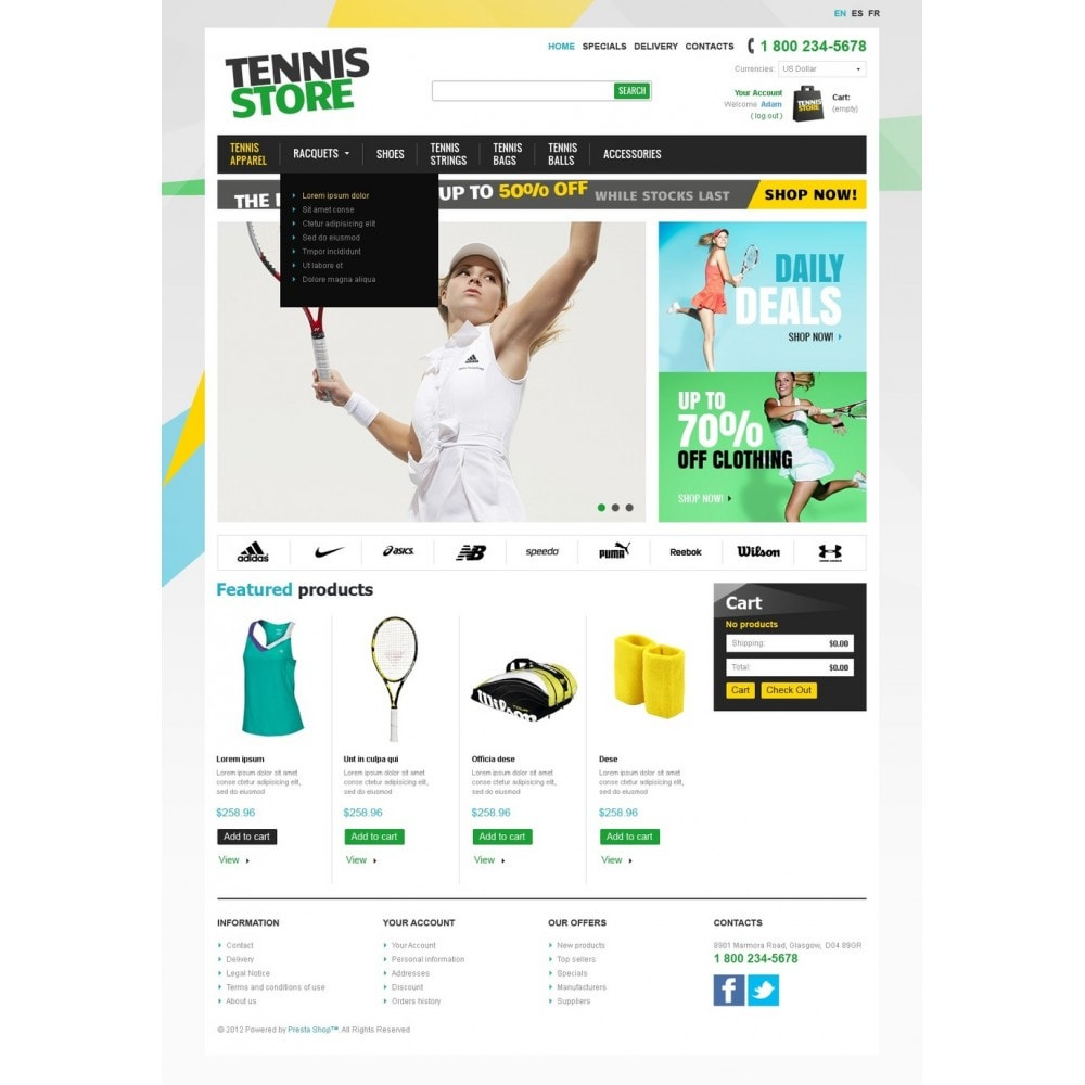 theme - Sports, Activities & Travel - Racquets And Tennis Stuff - 5