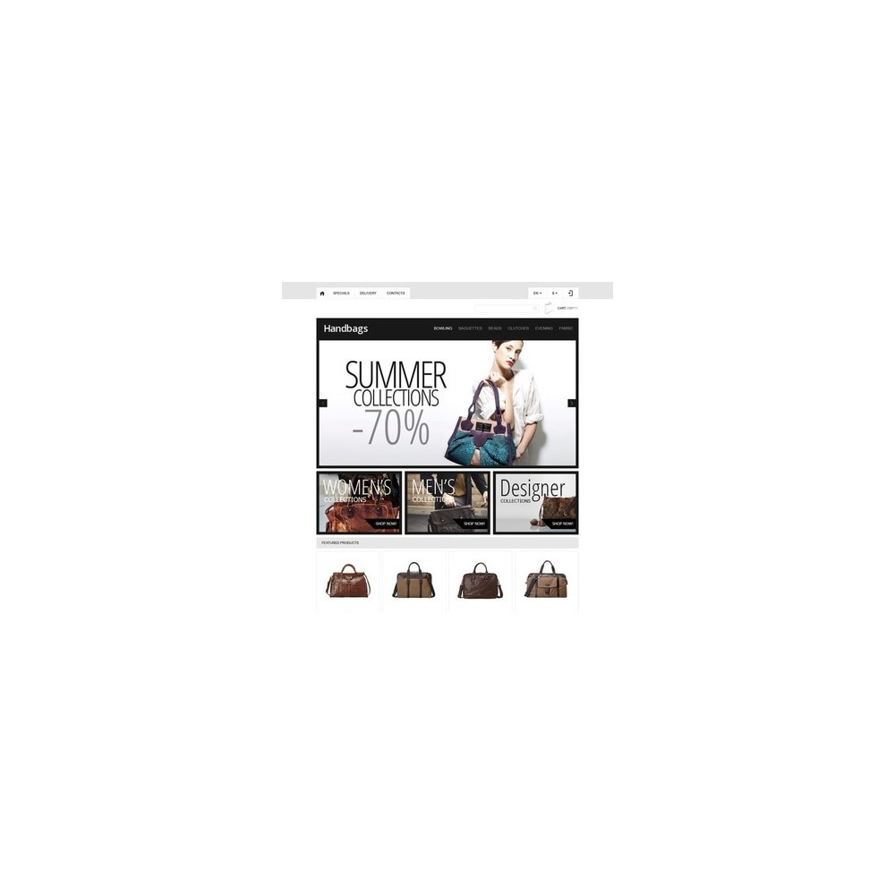 theme - Мода и обувь - Responsive Handbags Boutique - 2