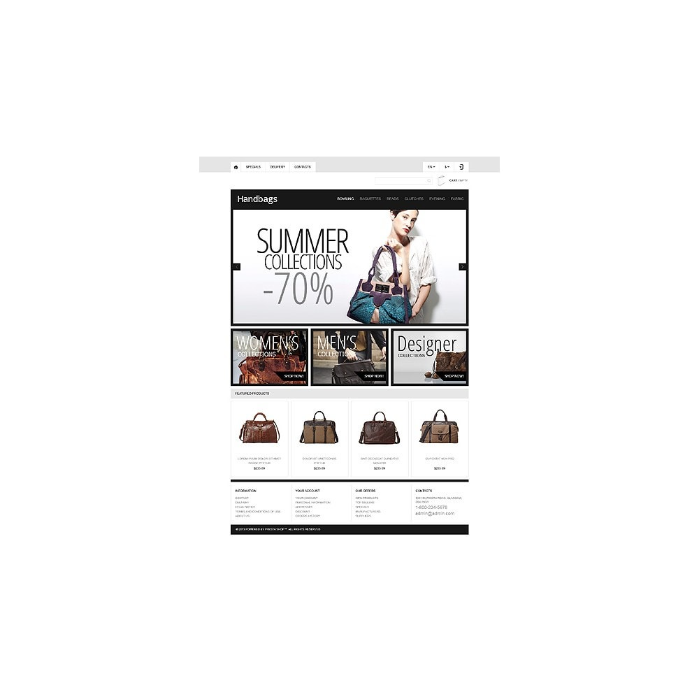 theme - Мода и обувь - Responsive Handbags Boutique - 11